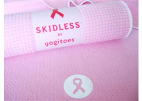 Yogitoes Breast Cancer Awareness Pink Big Skidless Yoga Mat Towel